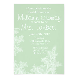 Sage Green Floral Bridal Shower Inviation Card