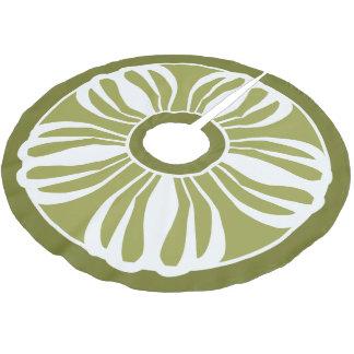 Sage Green Flower Christmas Tree Skirt