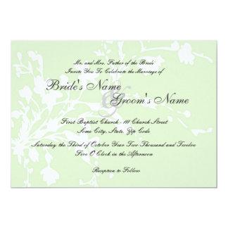 Sage Green Flowers  Wedding Invitation
