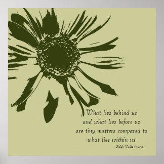 Sage Green Inspirational Floral Print