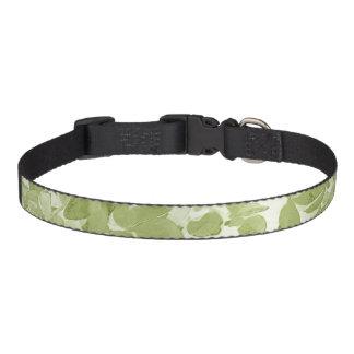 Sage Green Leaf Pattern Pet Collar