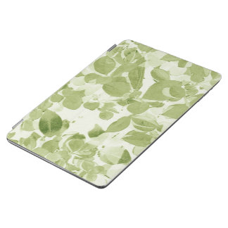 Sage Green Leaf Pattern, Vintage Inspired iPad Air Cover