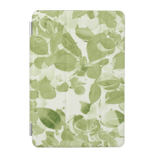 Sage Green Leaf Pattern, Vintage Inspired iPad Mini Cover