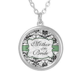 (Sage Green) Mother of the Bride Damask Necklace