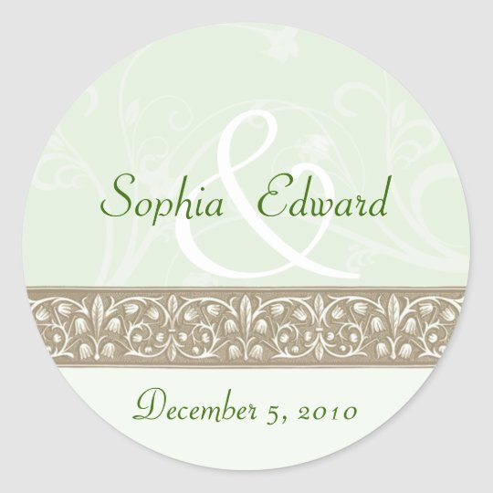 Sage Green Ornamental Frieze Sticker