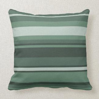 Sage green stripes cushion
