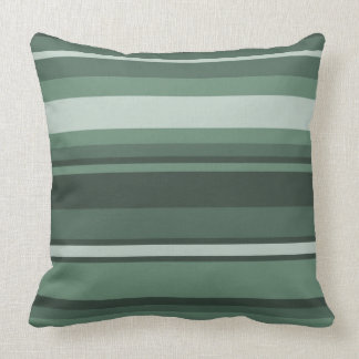 Sage green stripes cushions