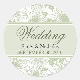 Sage Green Wedding Stickers And Sticker Transfer Designs