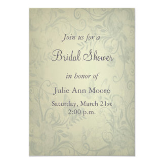Sage Green Vintage Bridal Shower Personalized Announcement