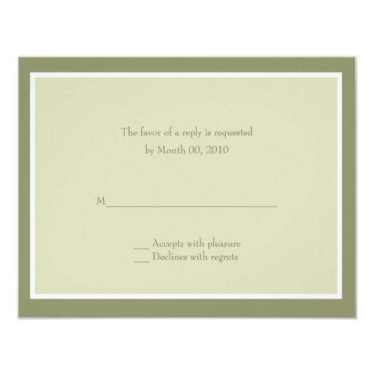 Sage Green Wedding RSVP Cards