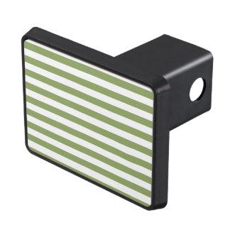 Sage Green & White Stripes; Striped Hitch Cover