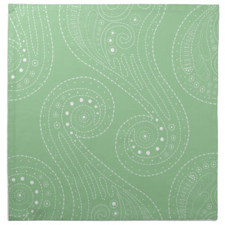 Sage Green & White Swirls Napkin