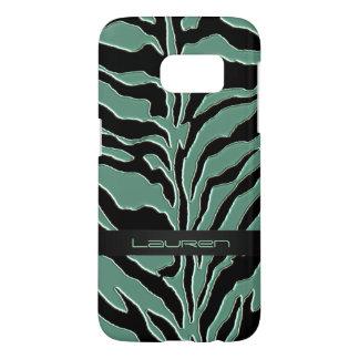 Sage Green Zebra Animal Print
