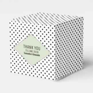 Sage Modern Polka Dots Wedding Favour Box