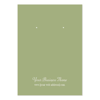Sage Olive Green Plain Simple Custom Earring Card Pack Of Chubby Business Cards
