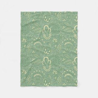 Sage Paisley Fleece Blanket