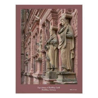 Sage Statues at Heidelberg Poster