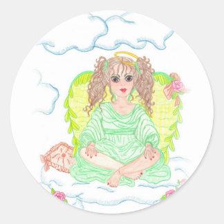 Sage Round Sticker