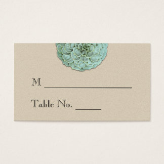 Sage Succulent Wedding Place Cards