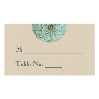 Sage Succulent Wedding Place Cards Pack Of Standard Business Cards