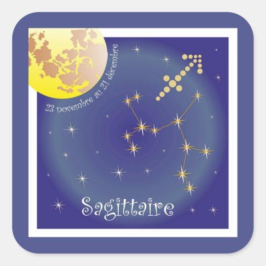 Sagittaire of 23 novembre outer 21 décembre square sticker