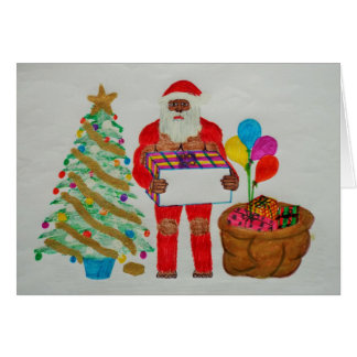 Sagittal father christmas card