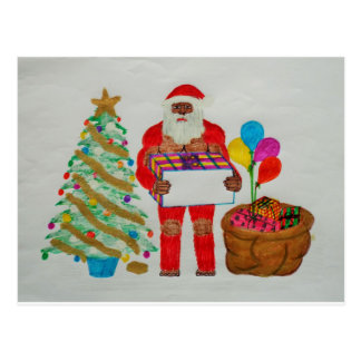 Sagittal father christmas postcard