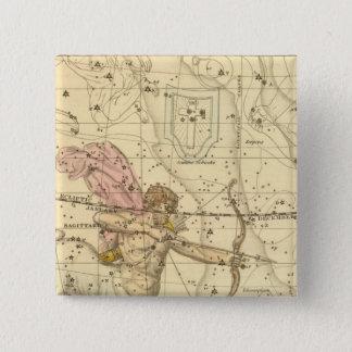 Sagittarius 15 Cm Square Badge