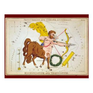 Sagittarius and Corona Australis, Microscopium, et Postcard