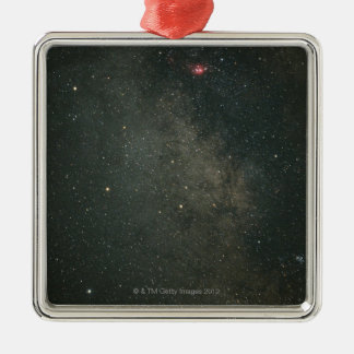 Sagittarius and Milky Way 2 Silver-Colored Square Decoration