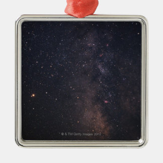 Sagittarius and Milky Way Silver-Colored Square Decoration