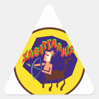 Sagittarius Badge Triangle Sticker