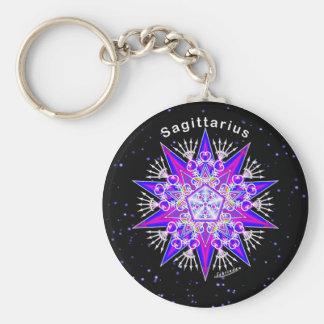 Sagittarius Basic Round Button Key Ring