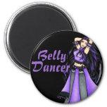 Sagittarius Belly Dancer Purple Fridge Magnet