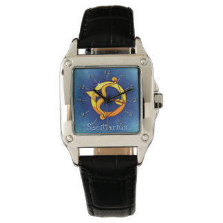 Sagittarius blue yellow watch