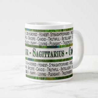 SAGITTARIUS -CENTAUR COFFEE/SOUP/JUMBO MUG - TEXT
