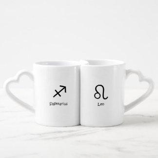 Sagittarius centaur Leo the Lion Zodiacs Astrology Coffee Mug Set