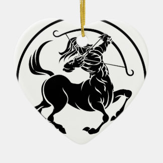 Sagittarius Centaur Zodiac Horoscope Sign Ceramic Heart Decoration