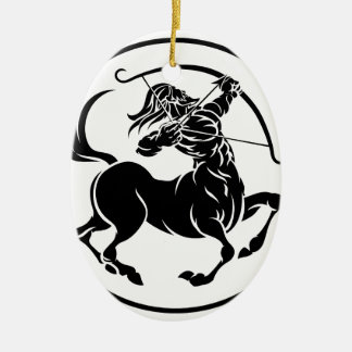 Sagittarius Centaur Zodiac Horoscope Sign Ceramic Oval Decoration