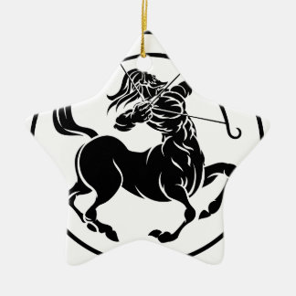 Sagittarius Centaur Zodiac Horoscope Sign Ceramic Star Decoration