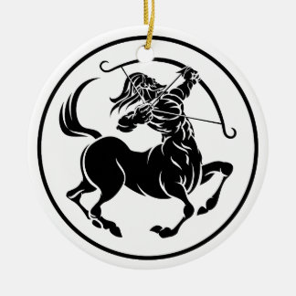 Sagittarius Centaur Zodiac Horoscope Sign Round Ceramic Decoration