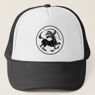Sagittarius Centaur Zodiac Horoscope Sign Trucker Hat
