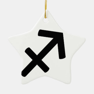 Sagittarius Ceramic Star Decoration