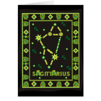 Sagittarius Constellation Greeting Card