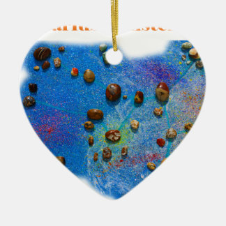 Sagittarius Constellation Ceramic Heart Decoration
