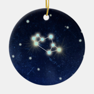 Sagittarius Constellation | Custom Name Round Ceramic Decoration