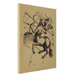 Sagittarius Constellation Hevelius 1690 Engraving Gallery Wrap Canvas