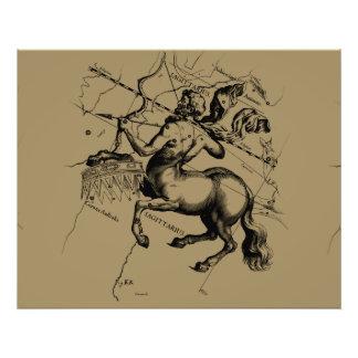 Sagittarius Constellation Hevelius 1690 Engraving Photo Print