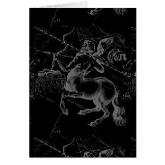 Sagittarius Constellation Hevelius circa 1690 Card
