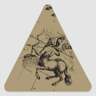 Sagittarius Constellation Map Engraving Hevelius Triangle Sticker